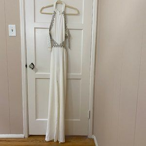 NWT NBD X Revolve Nicolina Gown In White